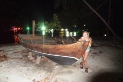 U tradiční maledivské lodě