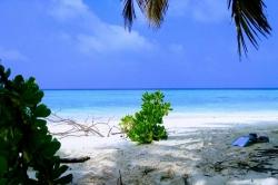 Maledivy, nejkrásnější pláž