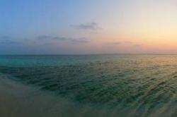 západ slunce Maledivy