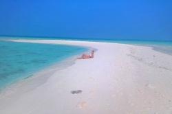 na písčině, Maledivy