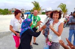 přivítání na ostrově Gaafaru