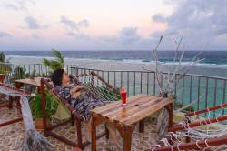 odpočinek v sedátku na terase