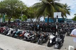 motorky v hlavním městě Malediv