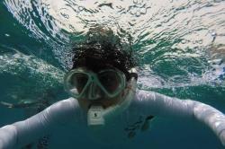 Ivanka při šnorchlování na Maledivách
