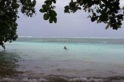 Koupání na Maledivách