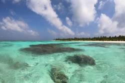 překrásné moře Maledivy