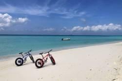 výlet na kolech po pláži