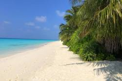 úžasná pláž s bílým pískem