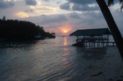 Dovolená na Maledivách - západ slunce