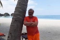 Jirka v resortu na Maledivách