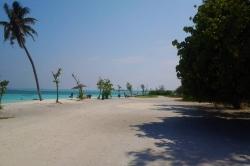 lokální ostrov na Maledivách