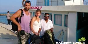 Dovolená na Maledivách - u trajektu