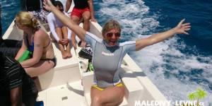 Maledivy, cestou na šnorchlování