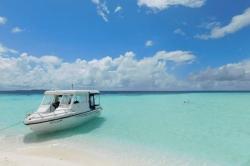 Maledivy, modř oceánu