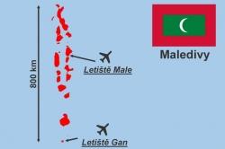 Maledivy mapa letiště