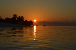 romantický západ slunce