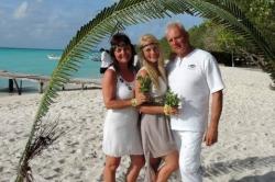 Maledivy svatba - nemvěsta s rodiči