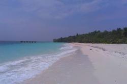 dovolená na Maledivách, pláž
