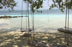 Houpačky na pláži u ubytování