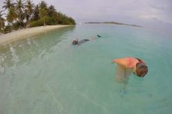 Šnorchlování na pláži