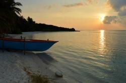ostrov Mathiveri - západ slunce