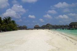 vodní vily Maledivy