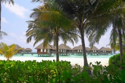 z resortu na Maledivách