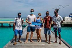 Češi na Maledivách