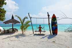 úžasné foto na pláži pláž ostrova Dhangethi