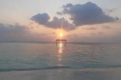 Západ slunce na Maledivách Dhangethi