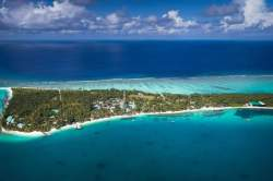 letecký sníme ostrova Mandhoo Maledivy