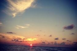 Západ slunce ostrov Huraa