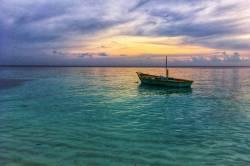 západ slunce na ostrově