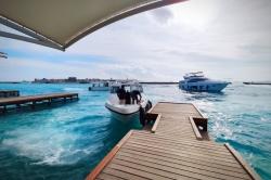 molo v hlavním městě Malediv