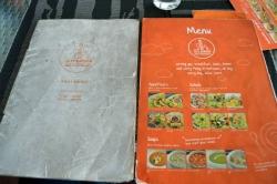 menu restaurace Maledivy, přední strana