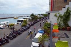 výhled z restaurační terasy