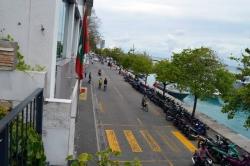 výhled na hlavní tepnu Malediv