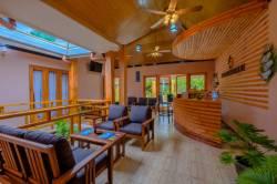 recepce penzionu na Maledivách