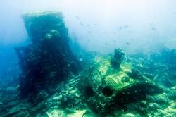 vraky na Maledivách