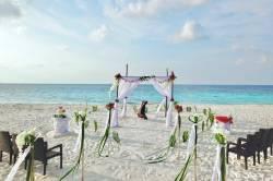 svatební altán na pláži