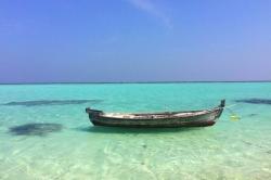 člun u ostrova Thoddoo