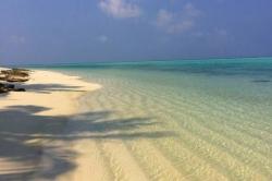 pláž Maledivy Thoddoo
