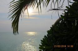 západ slunce Thoddoo Maledivy