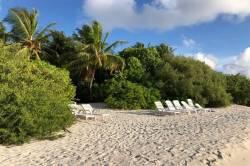 pláž a zeleň Thinandhoo