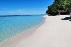 pláž s bílým pískem Thinandhoo