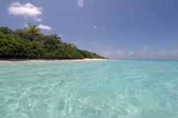 krásná pláž na Maledivách