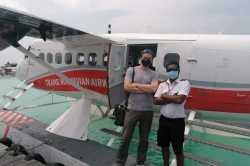 foto s kapitánem hydroplánu