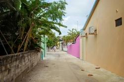 ulice na lokálním ostrově Malediv