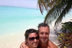 my dva na pláži