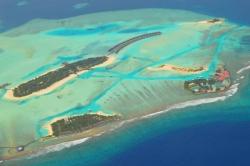resort na Maledivách, letecký pohled